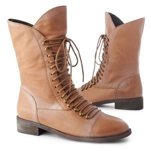 Joie Jovi Brown Lace Up Flat Boot 7